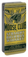Portable Battery Charger featuring the photograph Moose Club Bourbon Label by Tom Mc Nemar