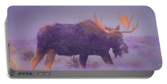 Moose In A Blizzard Portable Battery Charger