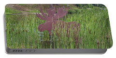 Portable Battery Charger featuring the photograph Moose In Bulrushes by Sue Smith