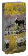 Moose In Fall Colors Portable Battery Charger