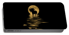 Moose In The Moonlight Portable Battery Charger