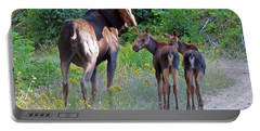 Moose Mom And Babies Portable Battery Charger