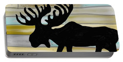 Portable Battery Charger featuring the digital art Moose by Paula Brown