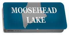 Portable Battery Charger featuring the photograph Moosehead Lake Maine State Pride  by Keith Webber Jr