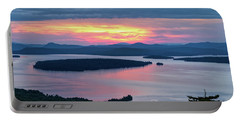 Mooselookmeguntic Lake In The Last Light Of Day - Rangeley Me  -63430 Portable Battery Charger