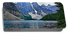 Moraine Lake In Color Portable Battery Charger