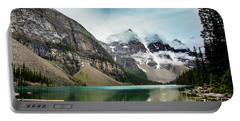 Moraine Lake In The Rain Portable Battery Charger