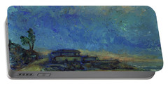 Portable Battery Charger featuring the painting Moran Lake Santa Cruz California Landscape 9 by Xueling Zou