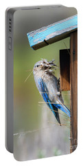Portable Battery Charger featuring the photograph More Than Mouthful by Mike Dawson