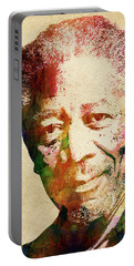 Morgan Freeman Portable Battery Charger by Mihaela Pater