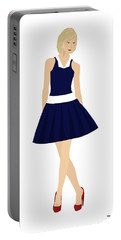 Portable Battery Charger featuring the digital art Morgan by Nancy Levan