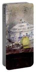 Morisot Berthe Tureen And Apple Portable Battery Charger by Berthe Morisot
