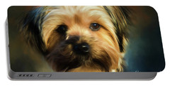 Morkie Portrait Portable Battery Charger