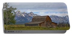 Mormon Row Barn And Grand Tetons Portable Battery Charger