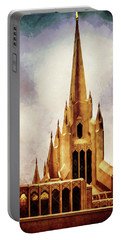 Mormon Temple Steeple Portable Battery Charger by Joseph Hollingsworth
