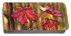 Morning After Autumn Rain Portable Battery Charger