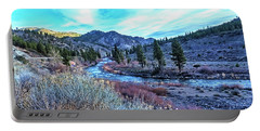 Morning Along The Truckee Portable Battery Charger by Nancy Marie Ricketts