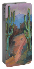 Portable Battery Charger featuring the painting Morning At Fort Apache by Diane McClary