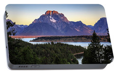 Portable Battery Charger featuring the photograph Morning At Mt. Moran by David Chandler