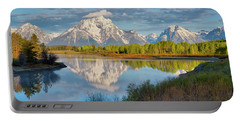Morning At Oxbow Bend Portable Battery Charger