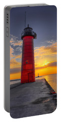 Morning At The Kenosha Lighthouse Portable Battery Charger
