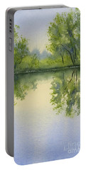 Morning At Turtle Pond Portable Battery Charger