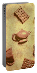Morning Breakfast Chocolate Tea Set  Portable Battery Charger