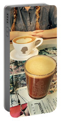 Morning Coffee Portable Battery Charger
