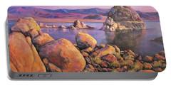 Morning Colors At Lake Pyramid Portable Battery Charger by Donna Tucker