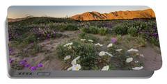 Morning Desert Evening Primrose Portable Battery Charger by Scott Cunningham