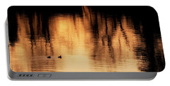 Portable Battery Charger featuring the photograph Morning Ducks 2017 by Bill Wakeley