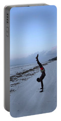 Morning Exercise On The Beach Portable Battery Charger