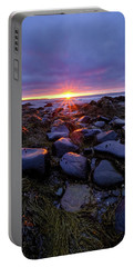 Morning Fire, Sunrise On The New Hampshire Seacoast  Portable Battery Charger