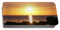 Portable Battery Charger featuring the photograph Morning Fishing by Dmytro Korol