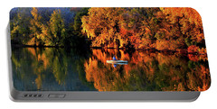 Morning Fishing On Lake Winona Portable Battery Charger