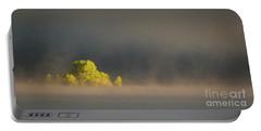 Morning Fog On Jackson Lake Grand Teton National Park  Portable Battery Charger