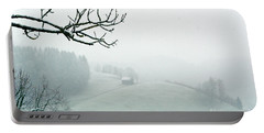 Portable Battery Charger featuring the photograph Morning Fog - Winter In Switzerland by Susanne Van Hulst