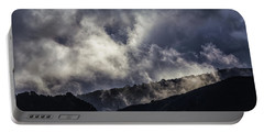Morning Fog,mist And Cloud On The Moutain By The Sea In Californ Portable Battery Charger