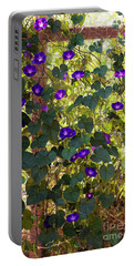 Morning Glories Portable Battery Charger