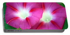 Portable Battery Charger featuring the photograph Morning Glories by Sheila Brown