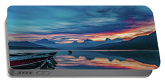 Portable Battery Charger featuring the photograph Morning Glory At Glacier National Park by Lon Dittrick