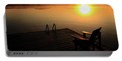 Morning Glory At The Lake Portable Battery Charger