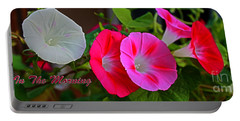 Morning Glory Banner Portable Battery Charger