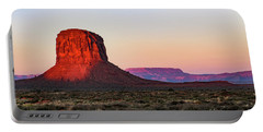 Morning Glory In Monument Valley Portable Battery Charger