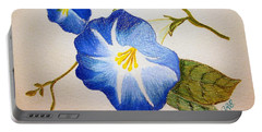 Morning Glory Portable Battery Charger by J R Seymour