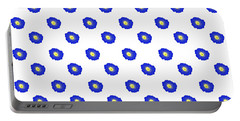 Morning Glory Pattern Portable Battery Charger