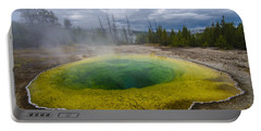 Portable Battery Charger featuring the photograph Morning Glory Pool by Gary Lengyel