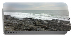 Morning Horizon On The Atlantic Ocean Portable Battery Charger by Patricia E Sundik