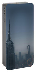 Morning In New York Portable Battery Charger by Chris Fletcher