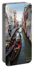 Morning In Venice In Winter Portable Battery Charger